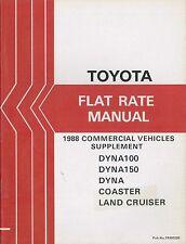 1988 TOYOTA COMMERCIAL VEHICLES FLAT RATE MANUAL RICHTZEITEN SUPPLEMENT FRM029E