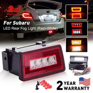 Smoked LED Rear Fog Lamp 3rd Brake Reverse Light For 2011-2019 Subaru WRX STi