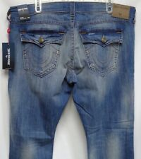 True Religion Ricky w/Flap SE Straight Relaxed Jeans 44 Nwts Lt Old School $229