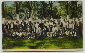 1917 Last of Old Time Slaves Houston Texas African American Historical Postcard