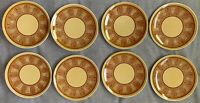 8 Vintage Taylor Smith Taylor Honey Gold Bread Plates Dishes Mid Century Modern