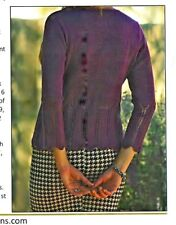 SAVE 50%  CROSS OVER LACE CARDIGAN by MARGARET MANEY FIESTA YARNS