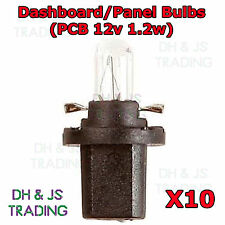 10 X 509T Car Auto Bulb Bulbs Panel 12v 1.2w Black Speedo Dial Dash Light