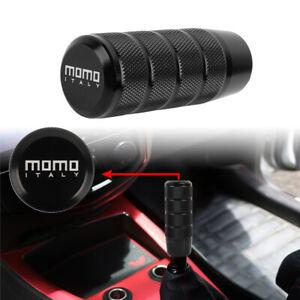 Universal MOMO Black Aluminum Manual Gear Stick Shift Knob Shifter Lever Head