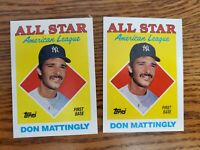 1988 TOPPS DON MATTINGLY #386 LOT of 12 AMERICAN LEAGUE ALL-STAR YANKEES