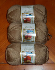 Bernat Satin Yarn Lot Of 3 Skeins (Sable #04011) 3.5 oz. Skeins