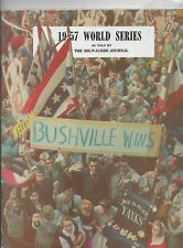 1957 WORLD SERIES BY THE MILWAUKEE JOURNAL - EXCELLENT CONDITION  - HANK AARON