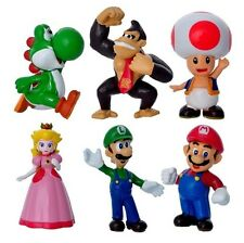 Mario Bros Princess Peach Playset 6 Figure Cake Topper * USA SELLER* Toy Set