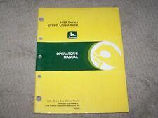 John Deere Used 1650 Series Drawn Chisel Plow Operators Manual A8