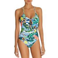 Red Carter Womens Printed Cross-Back Beachwear One-Piece Swimsuit BHFO 8273