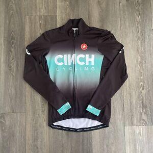 Castelli Black Lightweight Fleece Cycling Jacket Size Medium