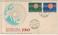 Italy 1960 Europa World Wheel Symbol Roma Double Cancel FDC Stamps Cover rf22458