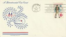 US 1975 US BICENTENNIAL FIRST DAY COVER BETTER HOMEWOOD IL MACHINE CANCEL