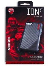 Ducati ION-5 Handy Hülle Cover I-Phone 5/5S Schutzhülle Schwarz/Rot elementcase
