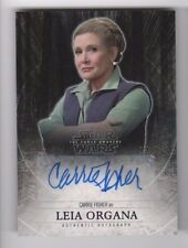 2015 Star Wars Force Awakens series 1 autograph card Carrie Fisher 12/25 PURPLE