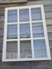 VINTAGE SASH ANTIQUE WOOD WINDOW PICTURE FRAME PINTEREST 37x28 UNIQUE PANES