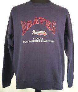 Atlanta Braves 1995 World Series Champions Pullover Sweatshirt Lee Sport Large