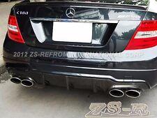 Big Fins Carbon Fiber Rear Diffuser For 12-14 W204 C200 C250 C300 C350 C63AM