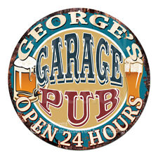 CPPO-0016 GEORGE'S GARAGE PUB Sign Father's Day Valentine Christmas Gift For Man