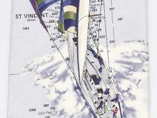 Tommy Bahama Men's Neck Tie Caribbean St Vincent Grenadines Map Sailing Silk