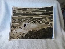 1945+ GUAM Aerial PHOTO Sepia Tone 1st Marine Division Tents People Fields