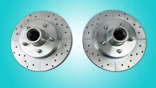 1960-1972 c10 truck 5 lug front rotors 5 on 5 drilled slotted 5516 zinc coating