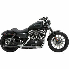 "Escapes Para Sportster '14-Up Cobra 3"" Slip-On Black Mufflers Race-Pro Tips"