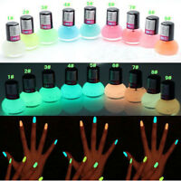 Glow in the Dark Neon Fluorescent Nail Polish Varnish Luminous Paint  5 colors