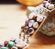 Handgefertigte Armbänder mit Mondstein echten Edelsteinen aus Sterlingsilber