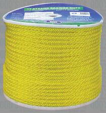 Rope 8mm Yellow Solid Braid Rope X 200m