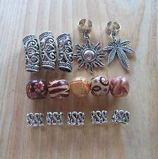 17 Mixed Designs Tibetan Silver Dreadlock Dread Hair Braid Bead Cuff Clip