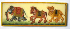 95mm X 35 mm RAJASTHAN HAND PAINTING FROM INDIA MINIATURE ANIMALS ON CAMEL BONE