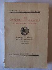 LES MASQUES ET LES VISAGES A FLORENCE LOUVRE 1927DE LA SIZERANNE ILLUST ITALIE