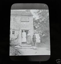 Glass Magic lantern slide SOCIAL HISTORY JOHN HOLDEN WINE SPIRITS & TABACCO 1900