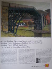 Shell oil Shropshire Ironbridge Eric Thomas art advert 1965