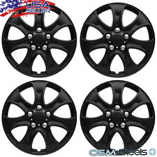 "4 NEW OEM MATTE BLACK 15"" HUBCAPS FITS GMC CAR SUV CENTER WHEEL COVERS SET"