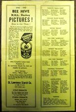 1940-41 Beehive NHL Hockey Pictures Checklist