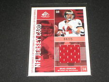 BRAD JOHNSON BUCANEERS LEGEND AUTHENTIC EVENT GAME USED JERSEY CARD #/75