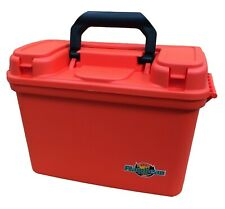 14 Inch Flambeau Water Resistant Orange Marine Tackle Dry Box with Handle!