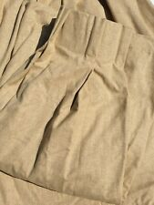 John Lewis Cotton Blend MTM Double Pinch Pleat Lined Curtains in Wheat