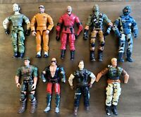 "Vintage GI Joe Action Figures Lot 3.75"" ARAH 2000s Hasbro Broken Crotch Parts #1"