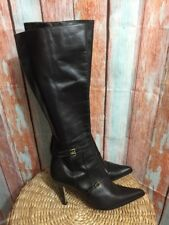 FACONNABLE WOMENS BOOTS BLACK SIZE 10 M Brown MADE IN ITTALY PERFECT