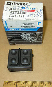 Mopar power window switch 1990 91 92 1993 Chrysler Plymouth Dodge # 4373359 NOS