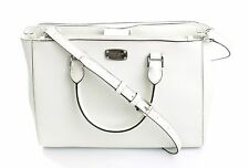 Michael Kors Kellen BIANCO OTTICO Saffiano Leather Shoulder bag Borsa RRP £ 345