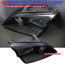 2005-2007 FORD FOCUS BLACK HOUSING HEADLIGHTS ASSEMBLY PAIR NEW BULBS INCLUDED