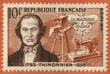 1955-Timbre france neuf **/B.Thimonnier-Inventeur(10F)-Stamp.Yt.1013