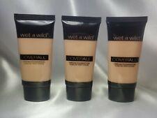"3X Wet n Wild CoverAll Cream Foundation ""818 Light/Medium 1oz / 29.6 ml (SEALED)"