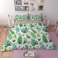 3D Tropical Leaf 591 Bed Pillowcases Quilt Duvet Cover Set Single Queen King AU