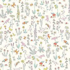 Liberty Tana Lawn ~ Theo un Blanco Tela/Acolchar confección Vivero Floral