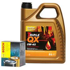 Triple QX Fully Syntetic Plus 0W40 Engine Oil 5L & Bosch Oil Filter Service Kit